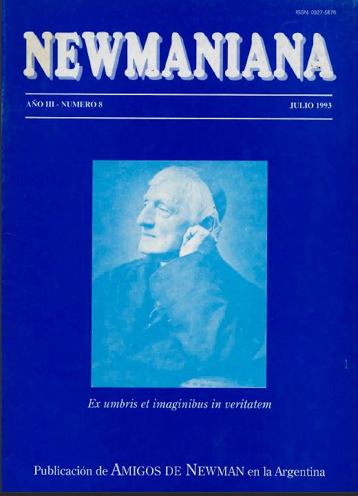 Revista Newmaniana Nº 8 – Julio 1993