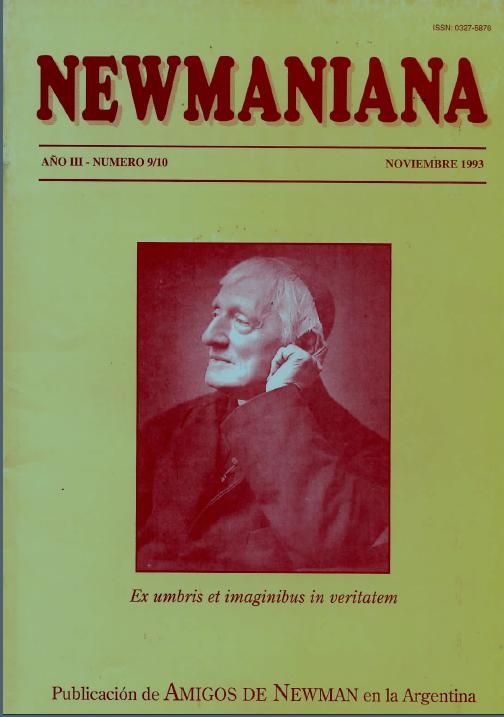 Revista Newmaniana Nº 9/10 – Noviembre 1993