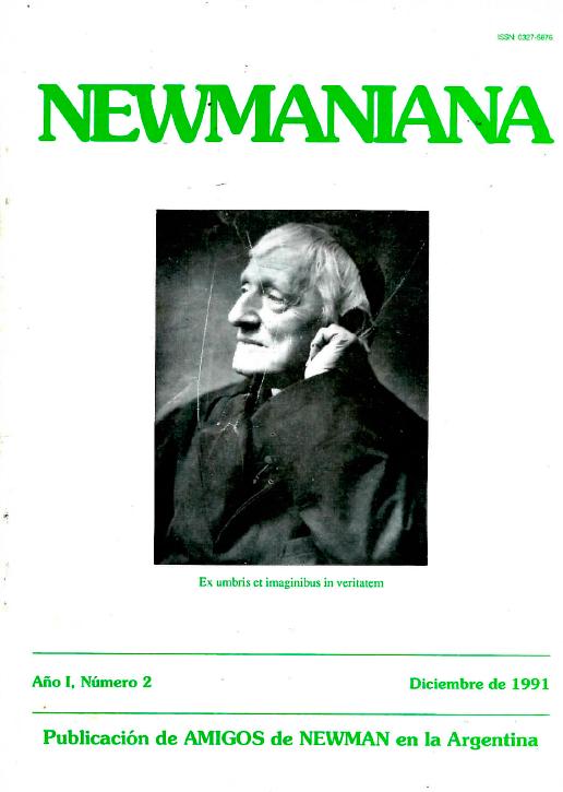 Revista Newmaniana Nº 2 – Diciembre 1991