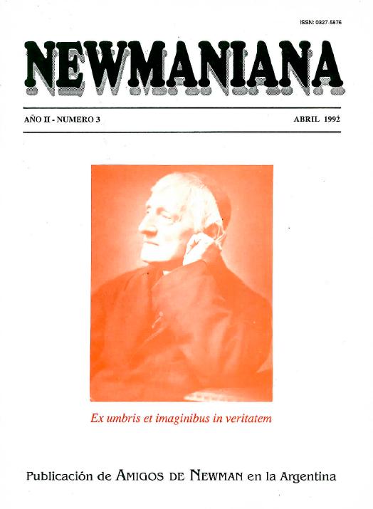 Revista Newmaniana Nº3 – Abril 1992