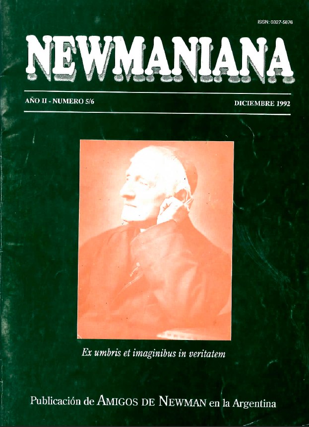 Revista Newmaniana Nº 5/6 – Diciembre 1992