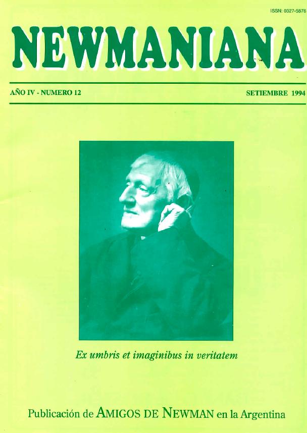 Revista Newmaniana Nº 12 -Septiembre 1994