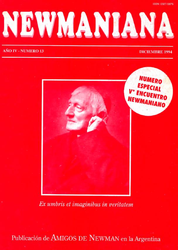 Revista Newmaniana Nº 13 -Diciembre 1994