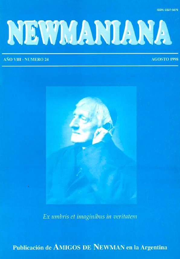 Revista Newmaniana Nº 24 – Agosto 1998