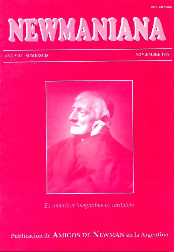 Revista Newmaniana Nº 25 – Noviembre 1998