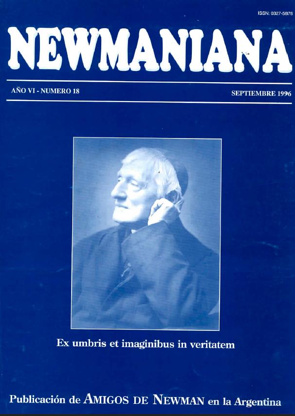 Revista Newmaniana Nº 18 -Septiembre 1996
