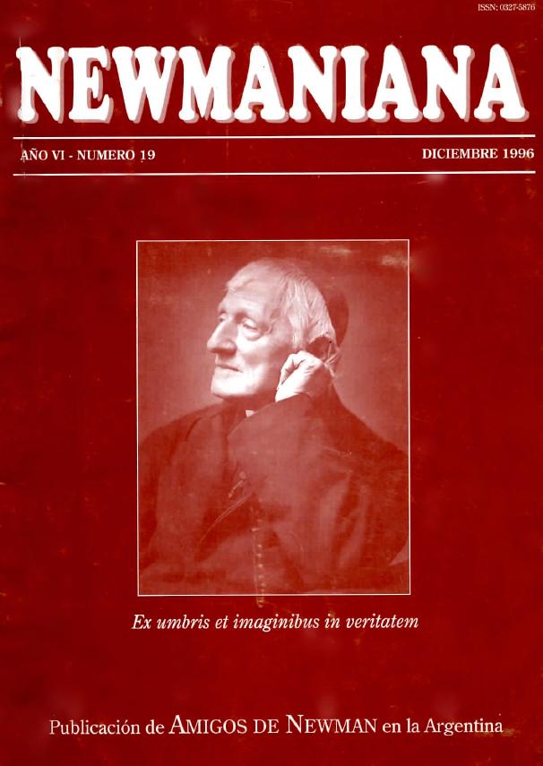 Revista Newmaniana Nº 19 – Diciembre 1996