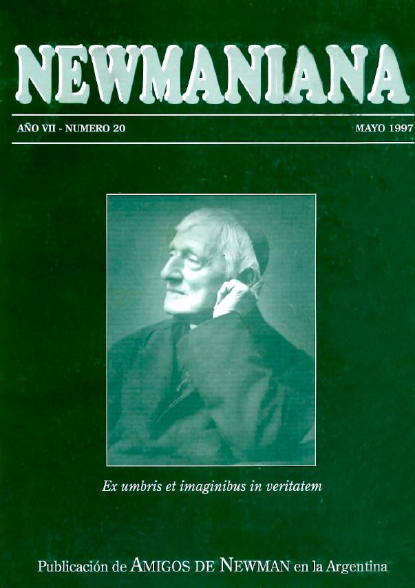 Revista Newmaniana Nº 20 – Mayo 1997
