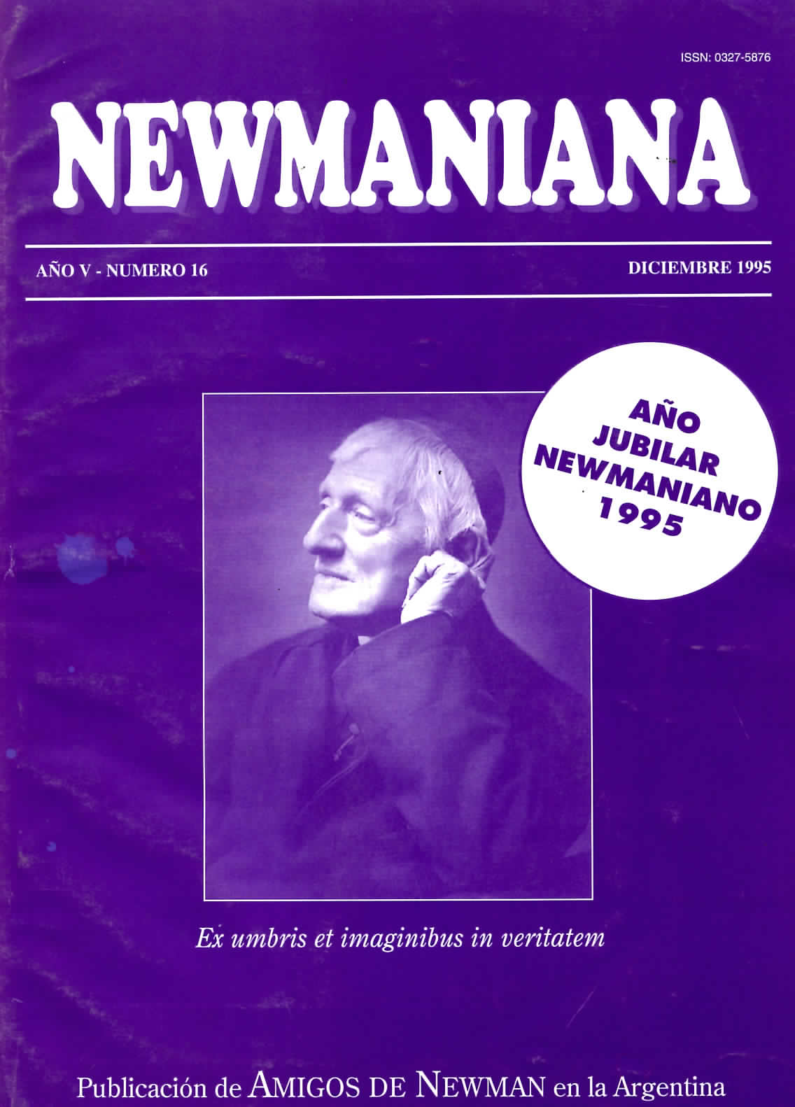 Revista Newmaniana Nº 16 -Diciembre 1995