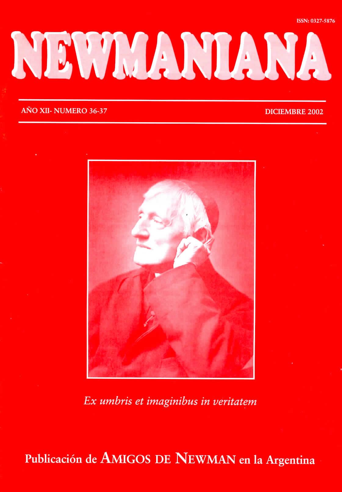 Revista Newmaniana N° 36-37 – Diciembre 2002
