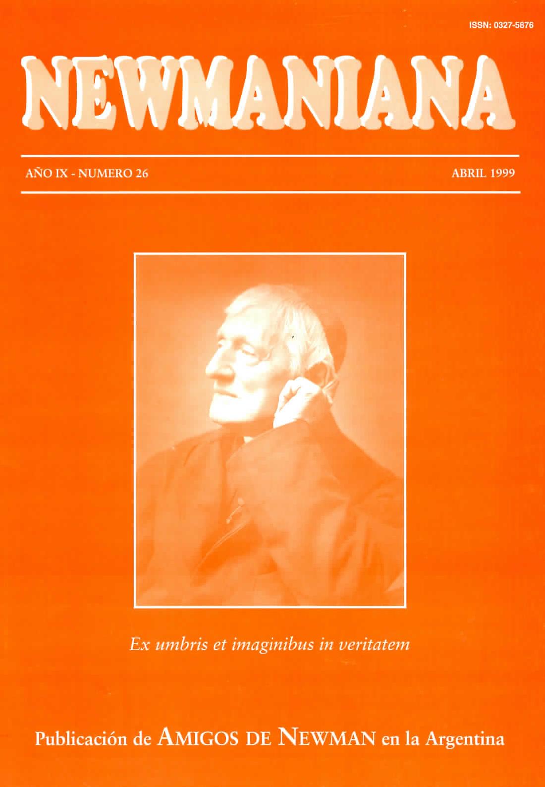 Revista Newmaniana N°26 – Abril 1999
