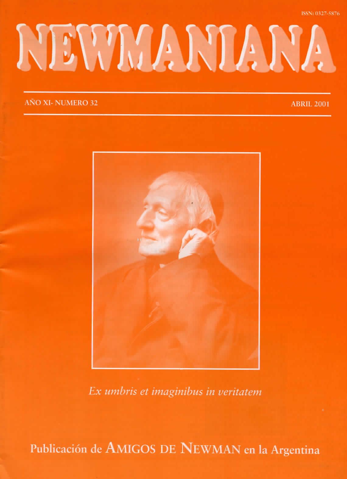 Revista Newmaniana N° 32 – Abril 2001