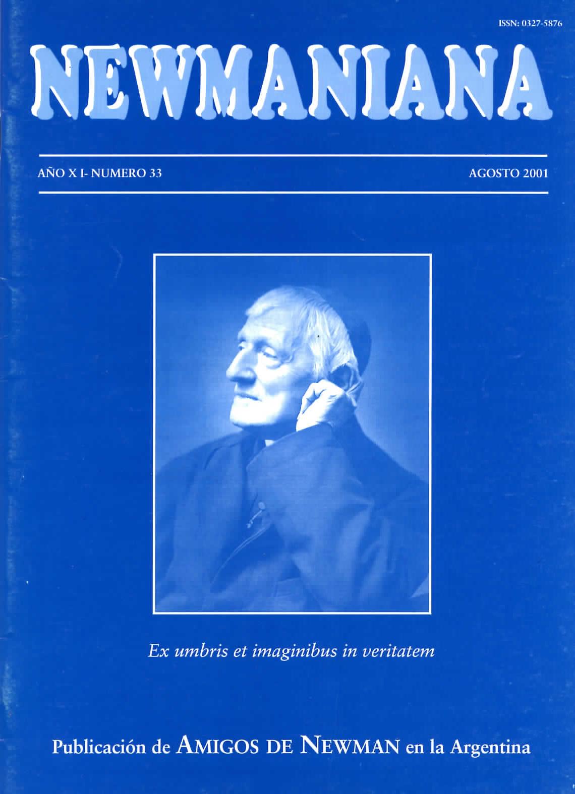 Revista Newmaniana N° 33 – Agosto 2001