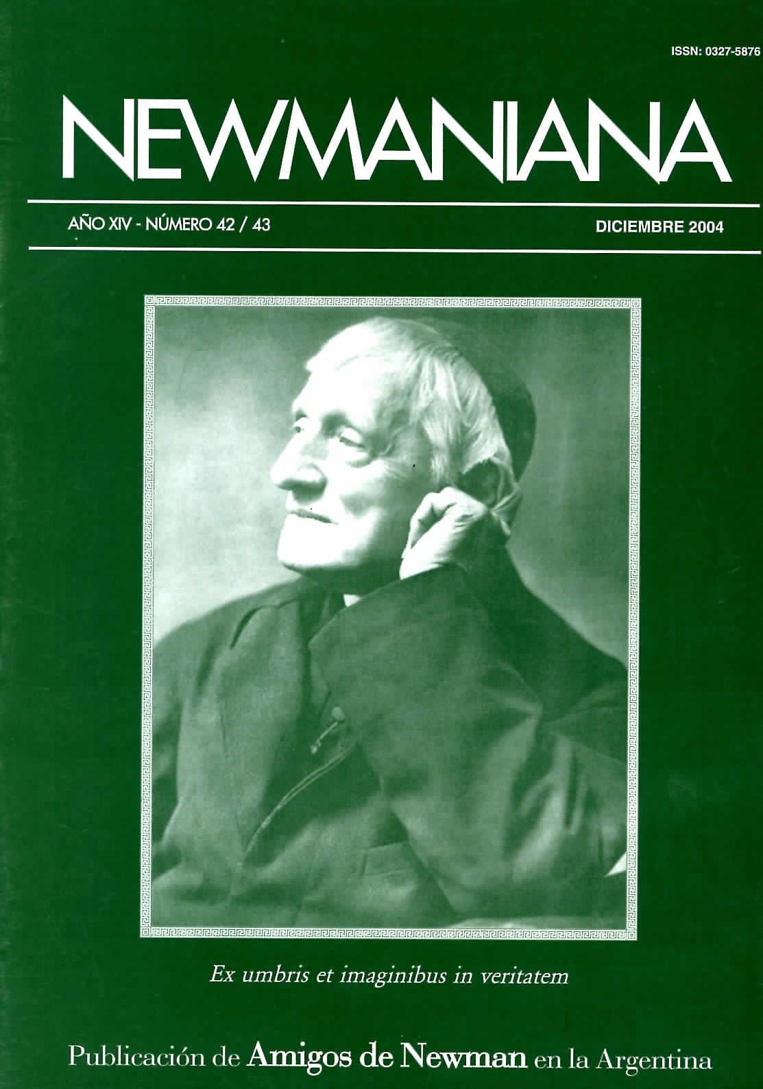 Revista Newmaniana N° 42/43 – Diciembre 2004