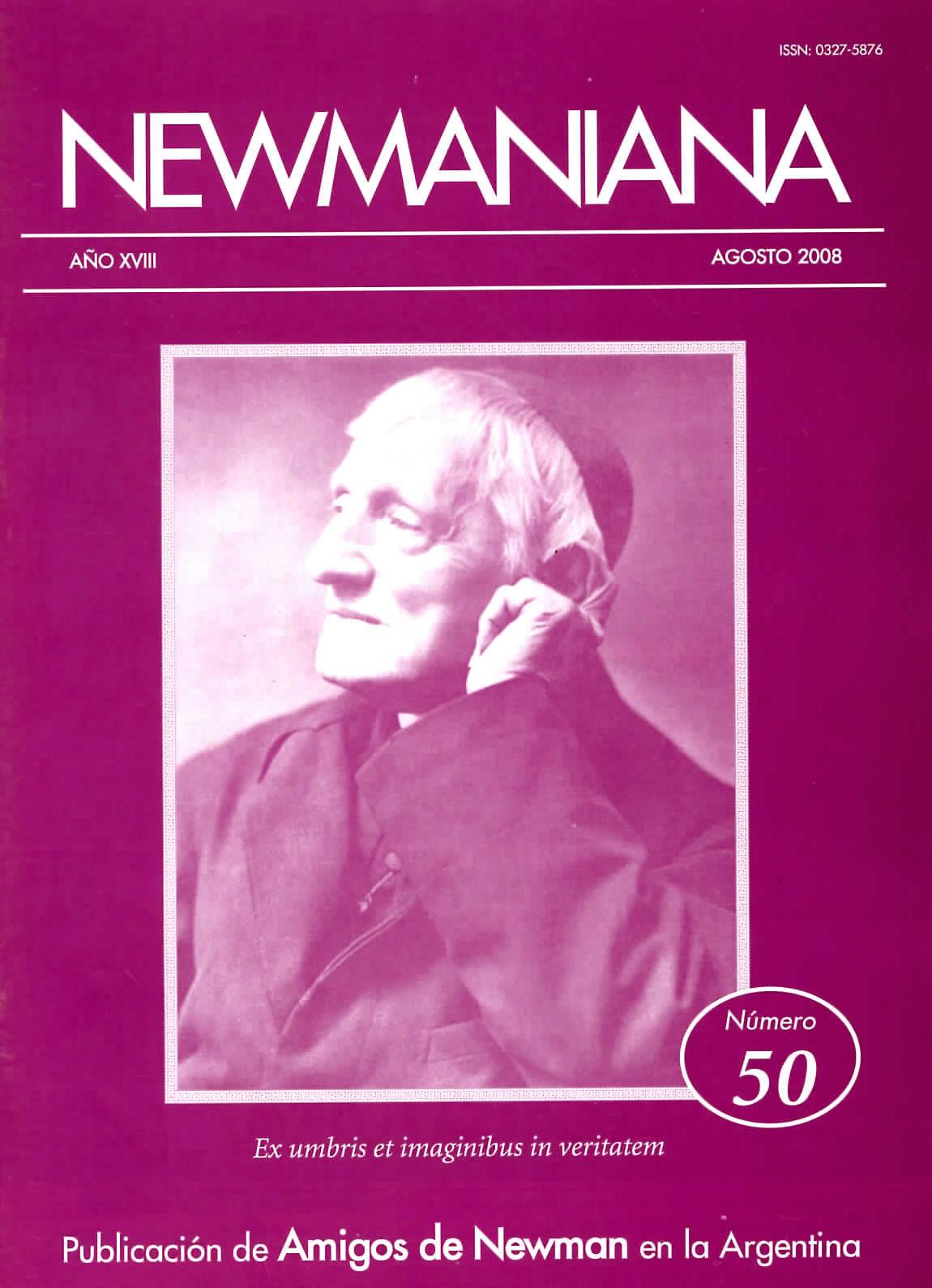 Revista Newmaniana N° 50 – Agosto 2008