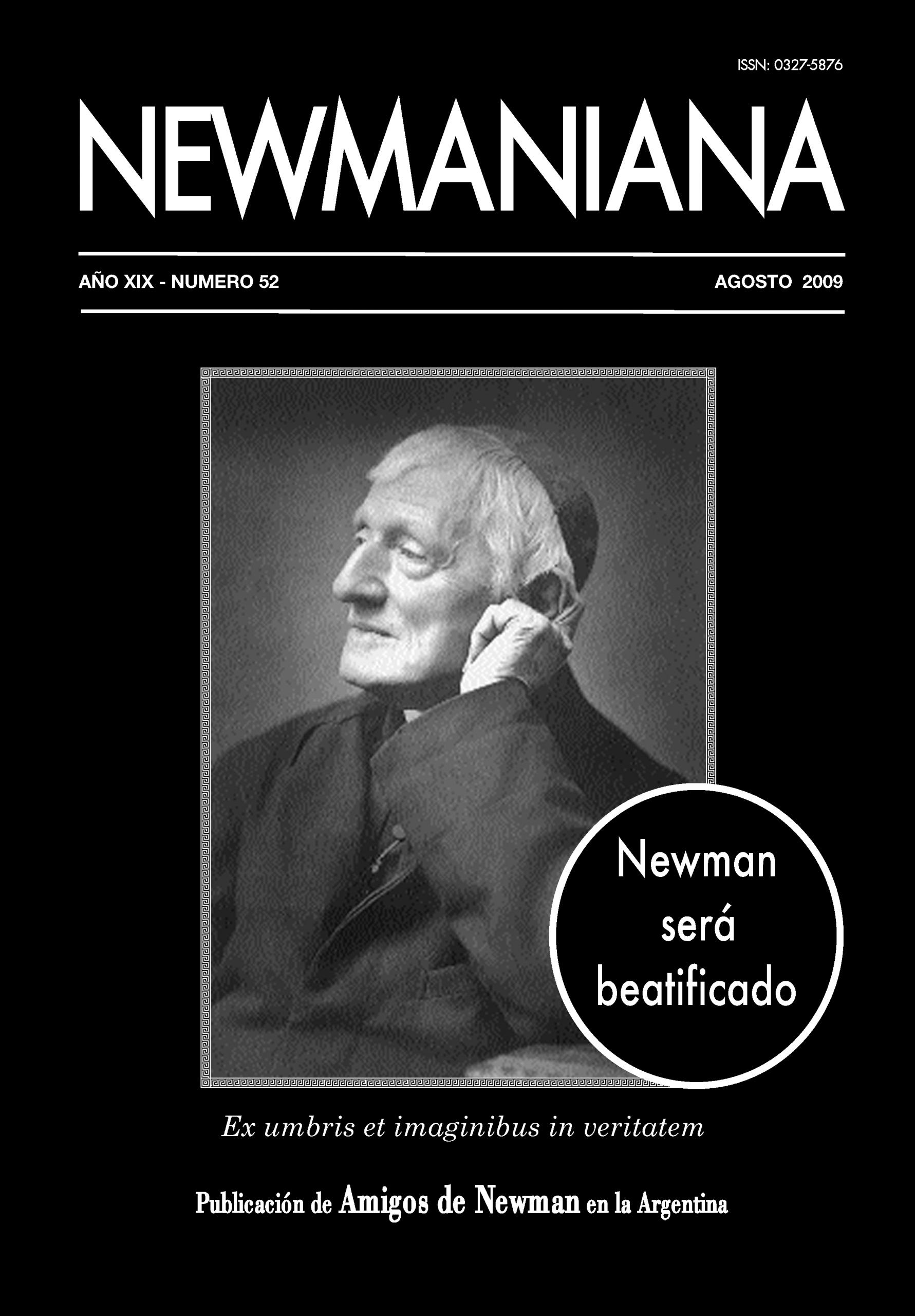 Revista Newmaniana 52 – Agosto 2009