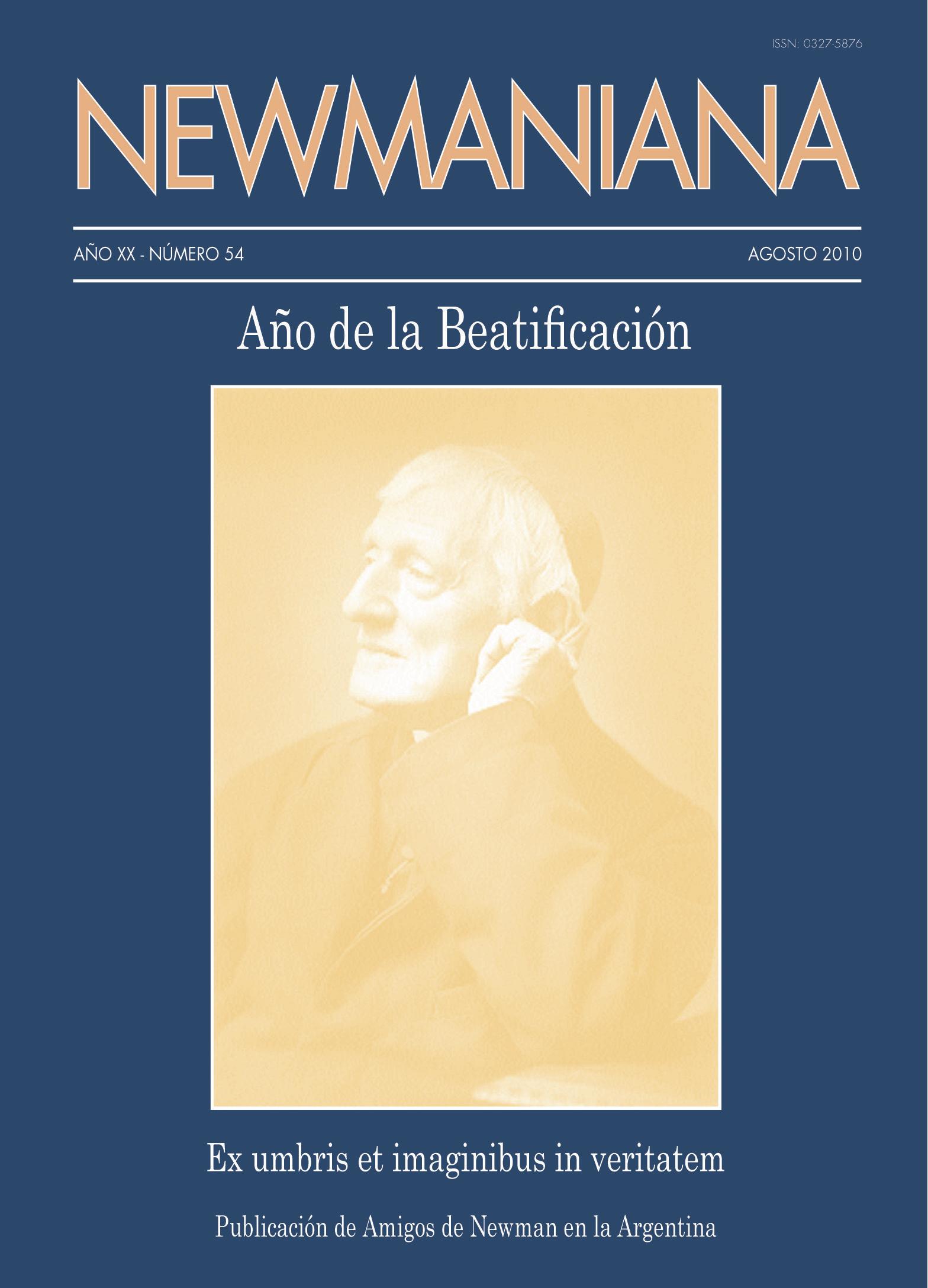 Revista Newmaniana 54 – Agosto 2010
