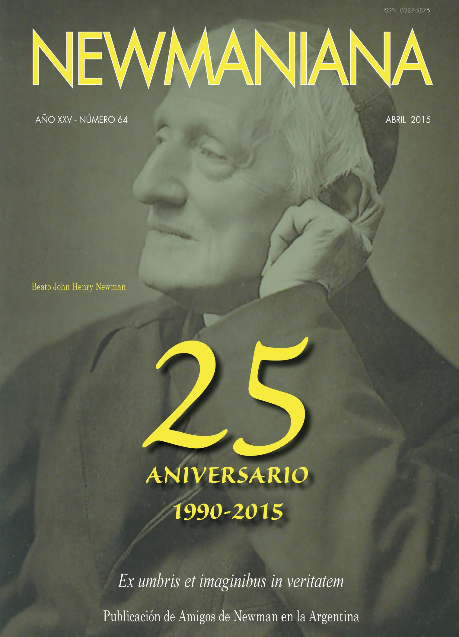 Revista Newmaniana N° 64 – Abril 2015
