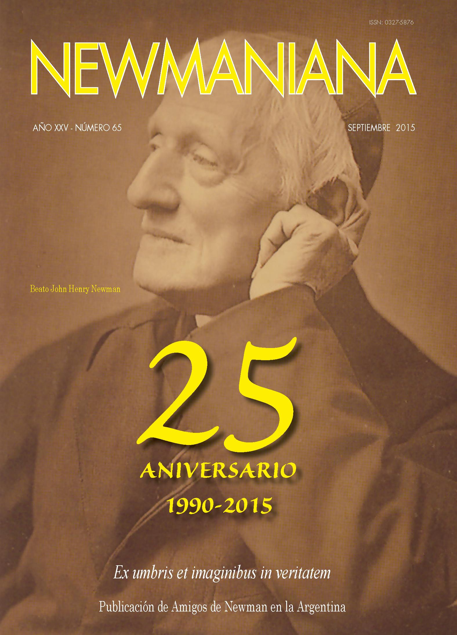 Revista Newmaniana N°65 – Septiembre 2015
