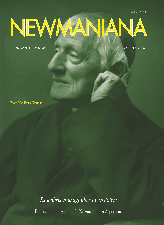 Revista Newmaniana N°68 – Octubre 2016